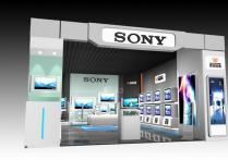 索尼电视专卖店设计