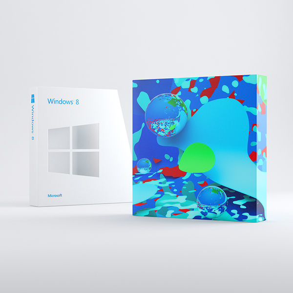 Windows8零售版包装盒设计
