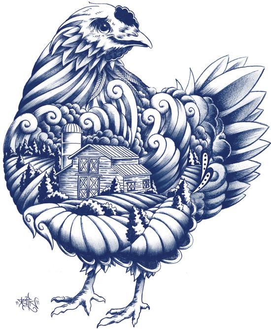 品牌设计欣赏:蓝鹅有机农场